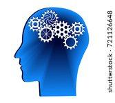 human head with gears. head...   Shutterstock .eps vector #721126648
