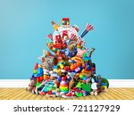 huge pile of different and... | Shutterstock . vector #721127929