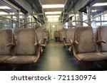 inside a suburb train | Shutterstock . vector #721130974