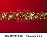 red christmas background with... | Shutterstock .eps vector #721132936