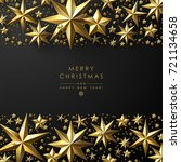 christmas frame made of cutout... | Shutterstock .eps vector #721134658