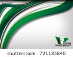 flag of nigeria color...   Shutterstock .eps vector #721135840