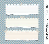note  notebook  copybook paper... | Shutterstock .eps vector #721138189