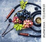 aroma smoked shisha with... | Shutterstock . vector #721140610