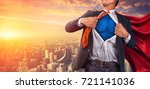 business superhero. mixed media | Shutterstock . vector #721141036
