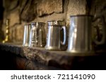 Traditional Pewter Tankard In A ...