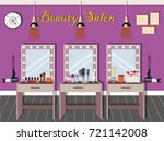 beauty salon interior design... | Shutterstock .eps vector #721142008