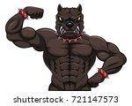 angry dog mascot cartoon | Shutterstock . vector #721147573