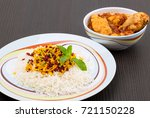 rice pilafs known as zereshk... | Shutterstock . vector #721150228