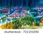scenic summer view of winter... | Shutterstock . vector #721151050