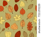 autumn leaves pattern  colorful ...   Shutterstock .eps vector #721155220