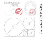 golden ratio template logo... | Shutterstock .eps vector #721156159