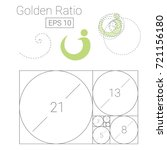 golden ratio template logo... | Shutterstock .eps vector #721156180