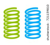 steel spring vector icon on... | Shutterstock .eps vector #721159810