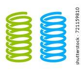 steel spring vector icon on... | Shutterstock .eps vector #721159810