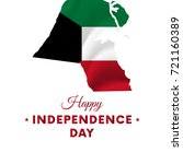 kuwait independence day. kuwait ... | Shutterstock .eps vector #721160389
