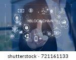 Small photo of Block chain concept.