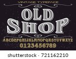font typeface handcrafted... | Shutterstock .eps vector #721162210