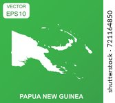 papua new guinea map icon.  | Shutterstock .eps vector #721164850