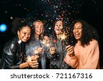 happy friends. group of smiling ...   Shutterstock . vector #721167316
