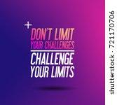 motivation quote  ... | Shutterstock . vector #721170706