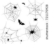 halloween cobweb vector frame... | Shutterstock .eps vector #721170928
