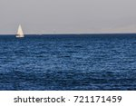 sailboat on the blue aegean... | Shutterstock . vector #721171459
