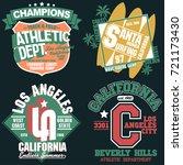california t shirt stamp... | Shutterstock .eps vector #721173430