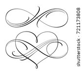 infinity love icon vector... | Shutterstock .eps vector #721173808