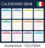 italian calendar for 2018.... | Shutterstock . vector #721175044