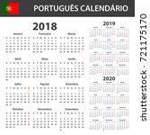 portuguese calendar for 2018 ...   Shutterstock . vector #721175170