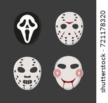 spooky icons. | Shutterstock .eps vector #721178320