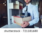 young handsome businessman in... | Shutterstock . vector #721181680