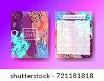 calendar 2018 template design ... | Shutterstock .eps vector #721181818