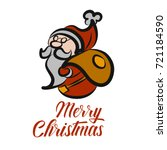 santa claus icon isolated on...   Shutterstock .eps vector #721184590