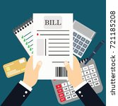 business analyst  financial... | Shutterstock .eps vector #721185208