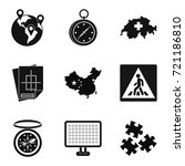 itinerary icons set. simple set ... | Shutterstock .eps vector #721186810