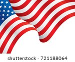 usa flag waving in the wind.... | Shutterstock .eps vector #721188064