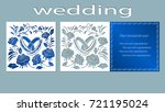 inscription   wedding. rings ... | Shutterstock .eps vector #721195024