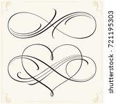 infinity love icon vector... | Shutterstock .eps vector #721195303