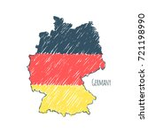 germany map hand drawn sketch.... | Shutterstock .eps vector #721198990