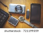 gadgets and accessories... | Shutterstock . vector #721199359