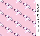 seamless pattern with cute... | Shutterstock . vector #721200490