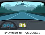 car on the road  a view from... | Shutterstock .eps vector #721200613