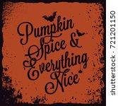 halloween pumpkin vintage...   Shutterstock .eps vector #721201150