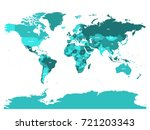 world map in four shades of... | Shutterstock .eps vector #721203343