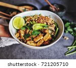 hand hold bowl udon with... | Shutterstock . vector #721205710