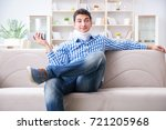 man with a head neck spine...   Shutterstock . vector #721205968