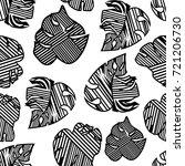 print summer tropical palm... | Shutterstock .eps vector #721206730