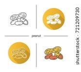 peanuts icon. flat design ... | Shutterstock .eps vector #721209730